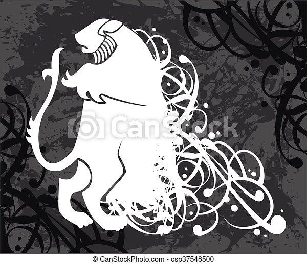 Lion, coat of arms - csp37548500