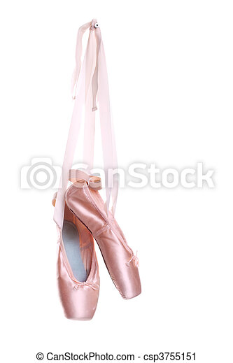 Hung ballet shoes - csp3755151