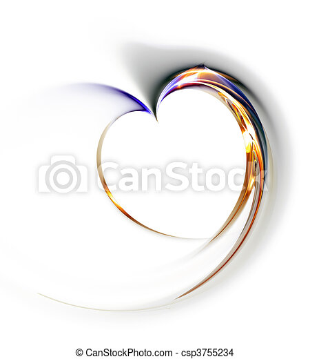 Delicate heart on a white background - csp3755234