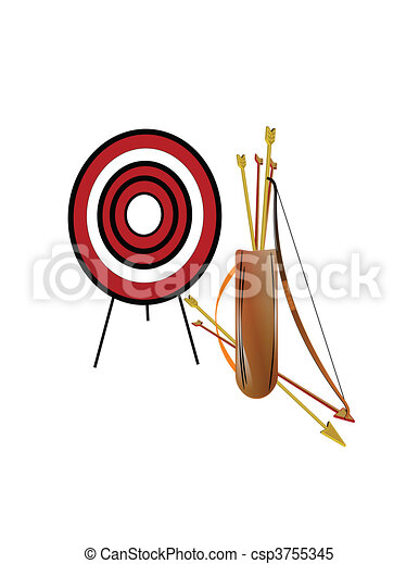 archery set on white - csp3755345