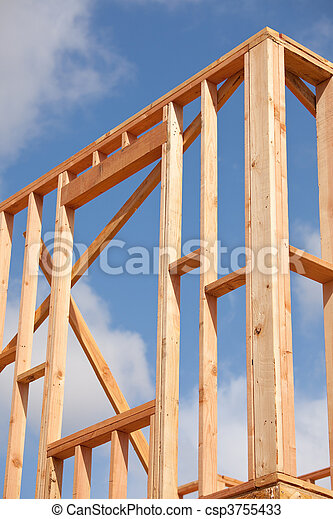Abstract Home Construction Site - csp3755433
