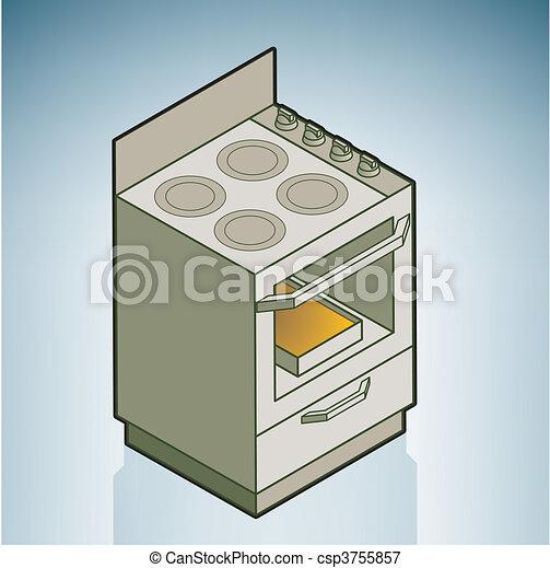 Vector Clip Art of Gas Stove - Cartoon Illustration, Vector ...