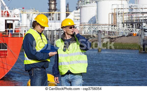 Harbor inspection - csp3756054