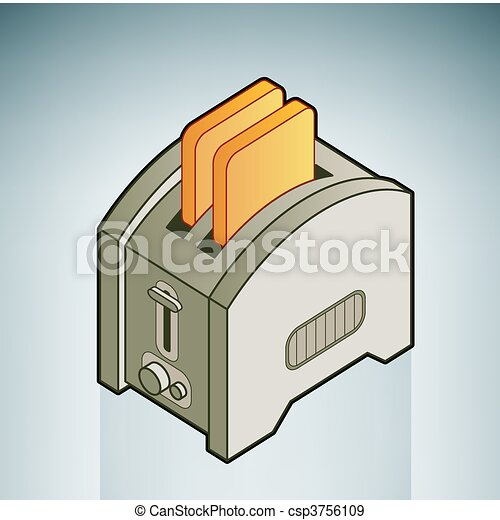 Bread Toaster Drawing Bread Toaster Csp3756109