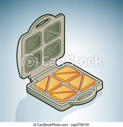 Bread Toaster Drawing Bread Toaster Csp3756191