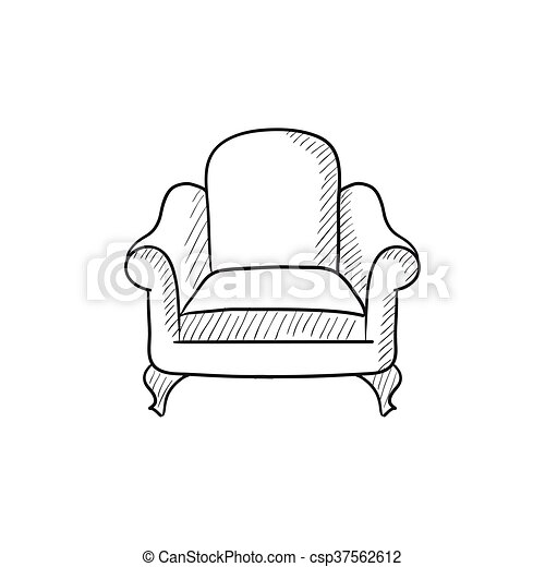 Sessel skizze  Vektor Clipart von sessel, skizze, icon. - Armchair, vektor ...