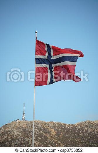 flag of Norway - csp3756852