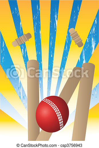 wickets with yellow rays - csp3756943