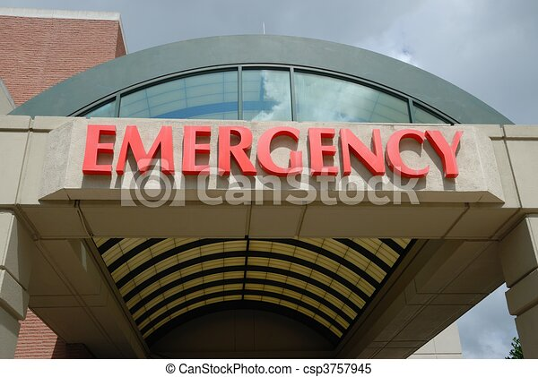 Emergency Room Entrance Sign - csp3757945