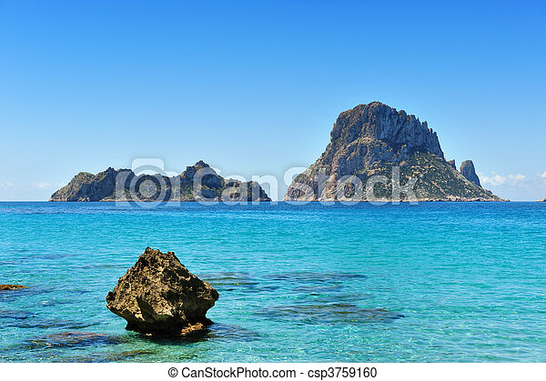 Es Vedra Cala d'Hort Ibiza Spain - csp3759160