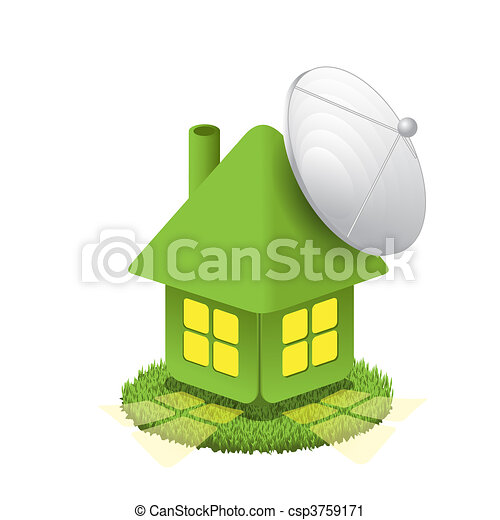 House with antenna - csp3759171
