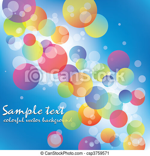 Abstract rainbow color circle - csp3759571