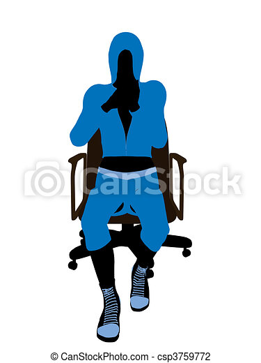 Female Bicycle Rider Illustration Silhouette - csp3759772