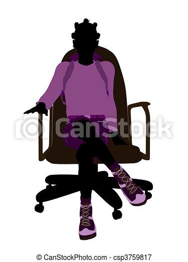 Stock illustrationen von afrikanisch amerikanische - Amerikanische stuhle ...