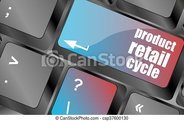 product retail cycle key in place of enter key vector , keyboard keys, keyboard button - csp37600130