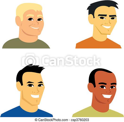 Cartoon Avatar Portrait Illustration - csp3760203