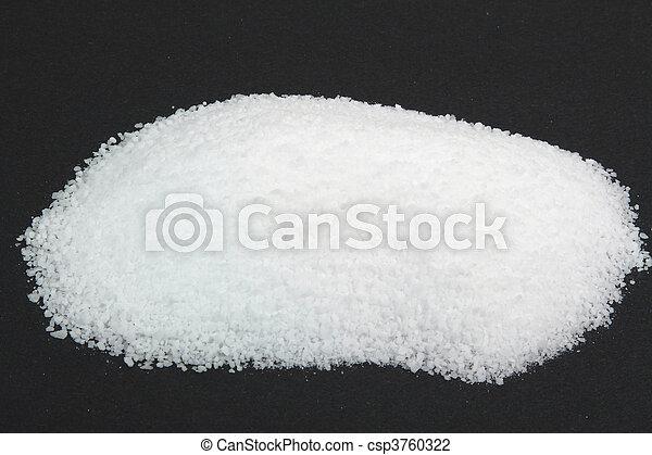 Pile Pickling Salt over black.   - csp3760322
