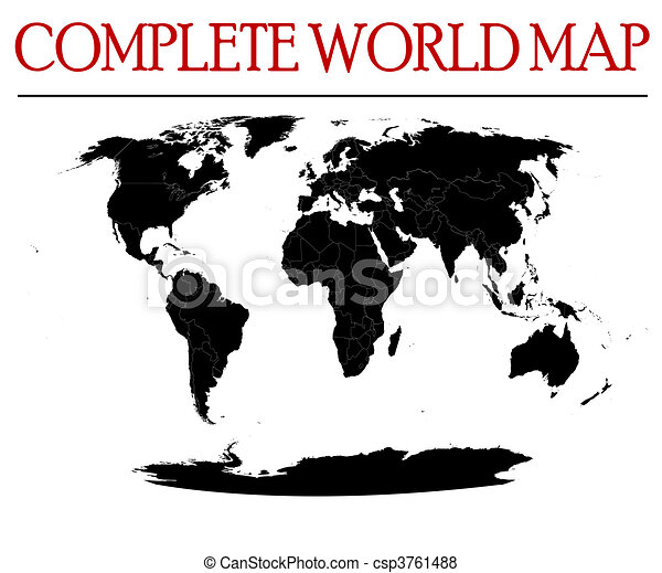 complete world map - csp3761488