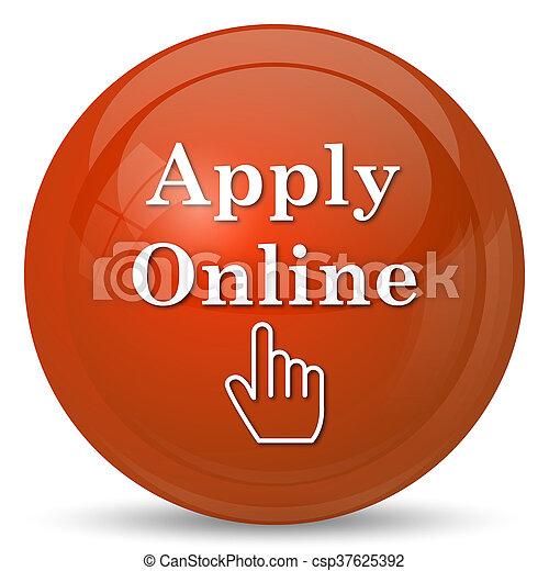 Apply online icon - csp37625392
