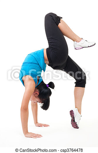 Gymnast stand on hands - csp3764478