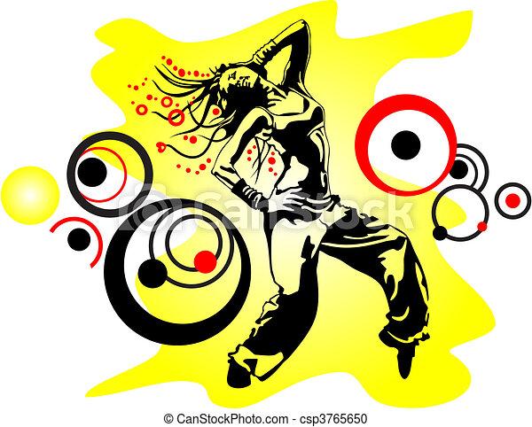 dancing girl  - csp3765650