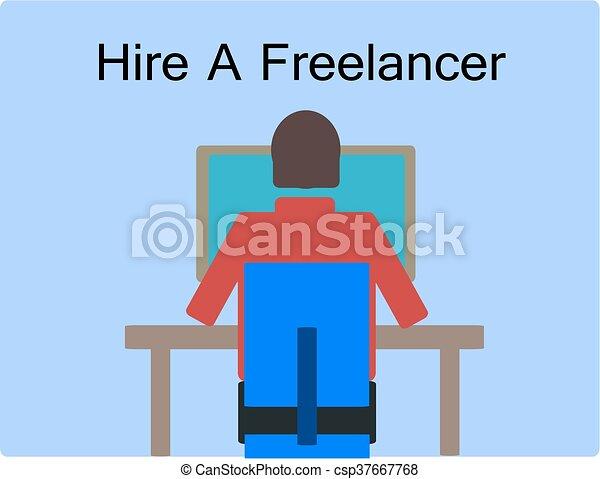 Hire a freelancer - csp37667768