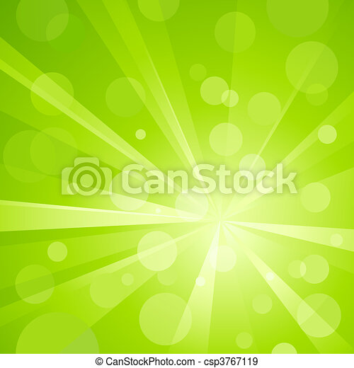 Green light burst with shiny light - csp3767119
