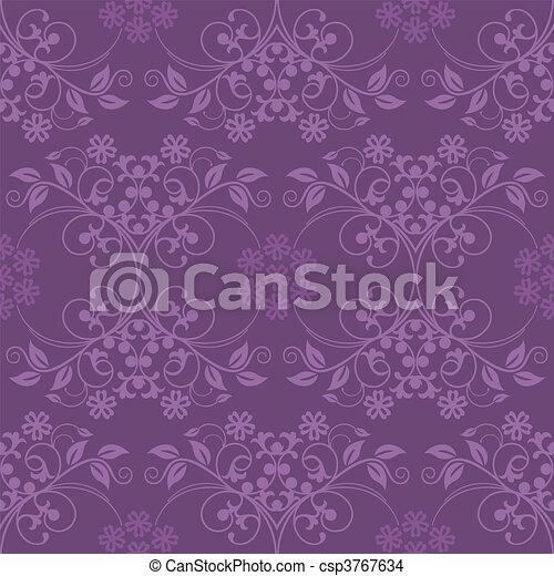 Beautiful seamless purple wallpaper - csp3767634