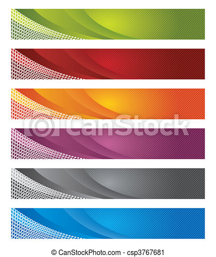 Digital banners in gradient & lines - csp3767681