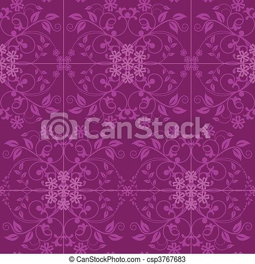 vecteurs de rose floral papier peint fuchsia fuchsia et rose csp3767683 recherchez. Black Bedroom Furniture Sets. Home Design Ideas
