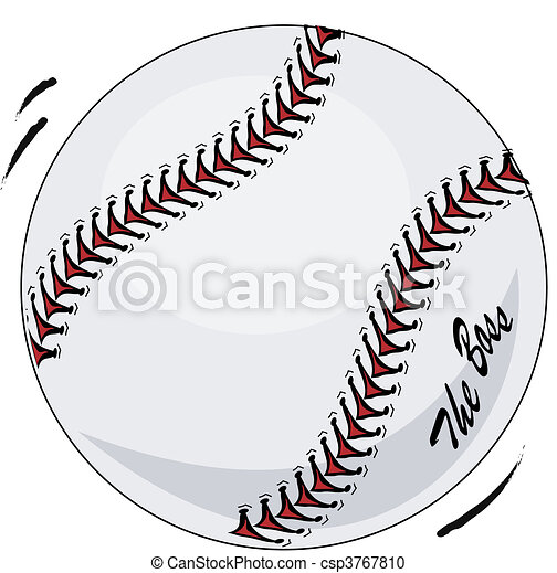 Brand new baseball in motion - csp3767810