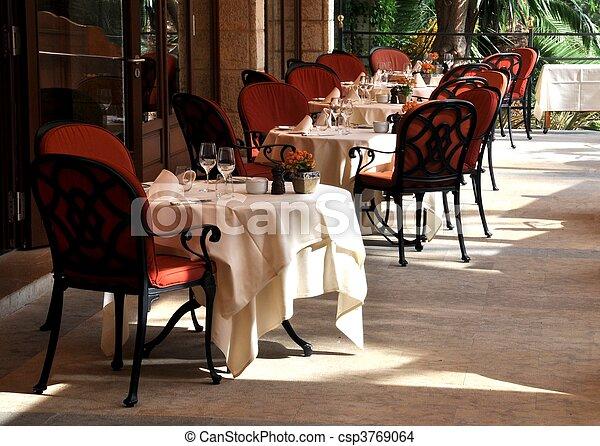 Restaurant terrace - csp3769064