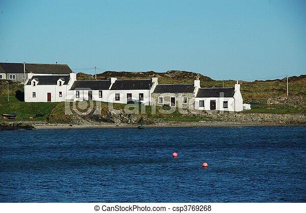 Houses in Port Ellen on Islay - csp3769268