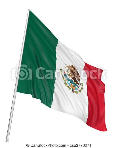 3D Mexican flag - csp3770271