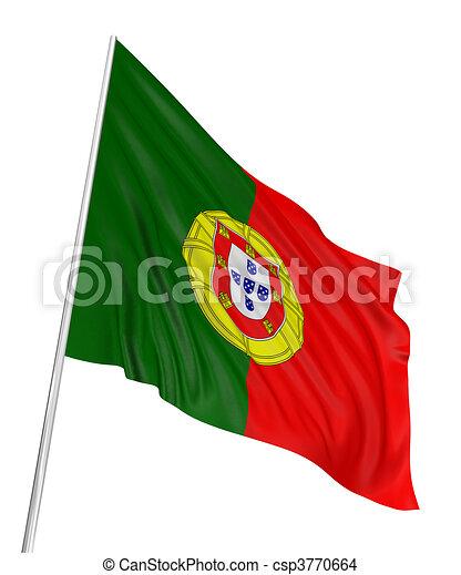 3D Portuguese flag - csp3770664