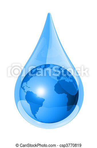 earth water drop - csp3770819