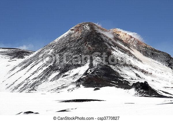 volcano mount Etna crater - csp3770827