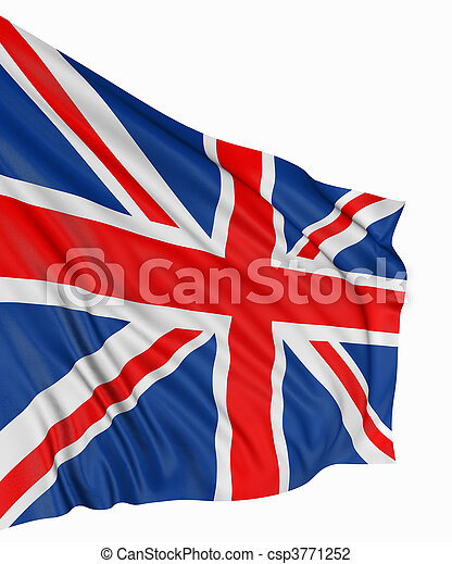 3D United Kingdom Flag - csp3771252