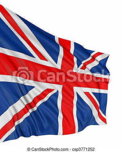 3D United Kingdom Flag - csp3771252