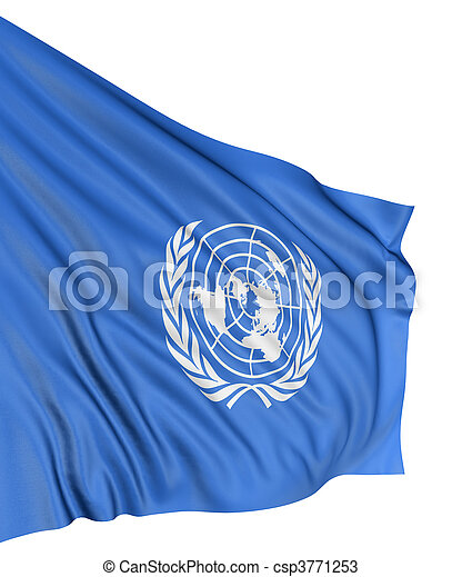 3D flag of the United Nations - csp3771253