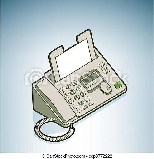 Ilustra O Vetorial De Telefone Fax Part Modernos