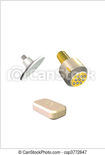 soap and showerheads - csp3772647