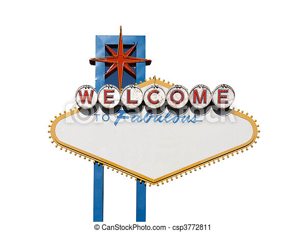 Welcome Sign Isolation - csp3772811