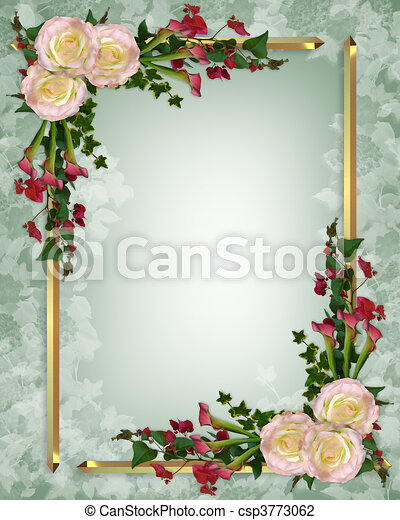 Stock Illustration Wedding invitation elegant floral