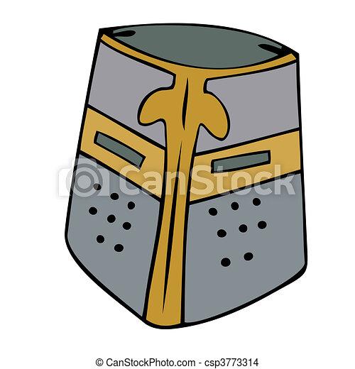 Medieval helmet. - csp3773314