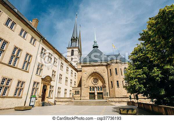 Notre-dame Cathedral, Luxembourg Is The Roman Catholic Cathedral - csp37736193
