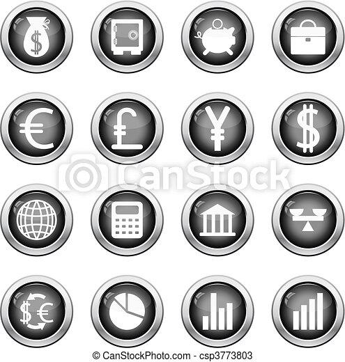 financial icon set - csp3773803