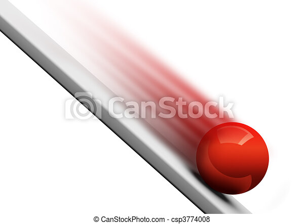 ... Ball rolling downwards 3d - Red ball rolling downwards 3d.