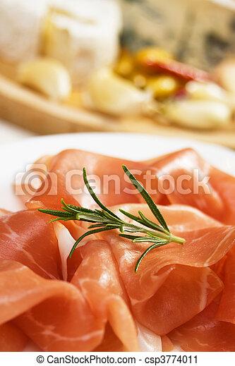 Prosciutto, italian cured ham - csp3774011