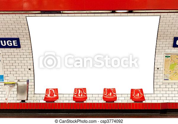 billboard in subway - csp3774092